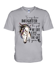 Horse To My Daughter V-Neck T-Shirt thumbnail