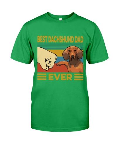 Best Dachshund Dad Vintage