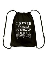 A Spoiled Cat Mom Drawstring Bag thumbnail