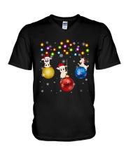 Goats Xmas Ball  V-Neck T-Shirt thumbnail