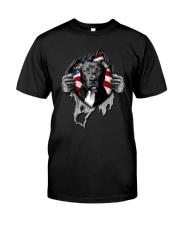 Pit Bull Inside Flag Classic T-Shirt front