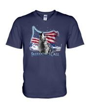Freedom's call V-Neck T-Shirt thumbnail