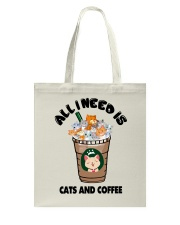 All I Need Is Cats And Coffee Tote Bag thumbnail