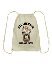 All I Need Is Cats And Coffee Drawstring Bag thumbnail