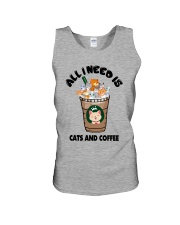 All I Need Is Cats And Coffee Unisex Tank thumbnail