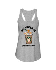 All I Need Is Cats And Coffee Ladies Flowy Tank thumbnail