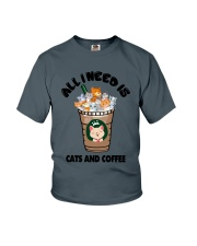 All I Need Is Cats And Coffee Youth T-Shirt thumbnail