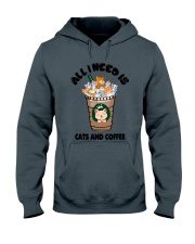 All I Need Is Cats And Coffee Hooded Sweatshirt thumbnail