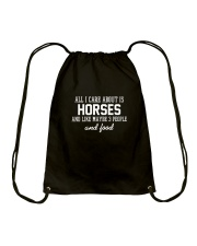 All I Care About Is Horses Drawstring Bag thumbnail
