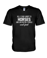 All I Care About Is Horses V-Neck T-Shirt thumbnail