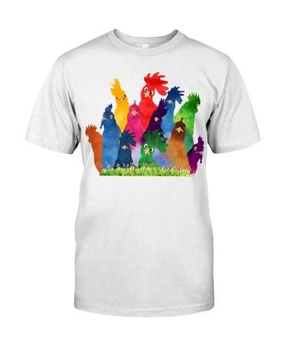 Chicken Lover Colorful Rainbow Farm
