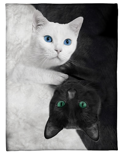 Cat Funny Blanket Cat Black White Graphic Design