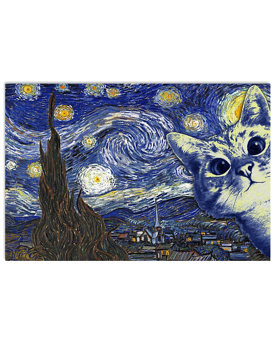 Cat Van Gogh 17x11 Poster