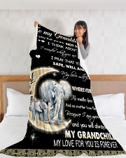 """Elephant To My Granddaughter Blanket Large Fleece Blanket - 60"""" x 80"""" aos-coral-fleece-blanket-60x80-lifestyle-front-11"""