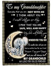 "Elephant To My Granddaughter Blanket Large Fleece Blanket - 60"" x 80"" front"