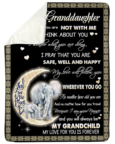 Elephant To My Granddaughter Blanket