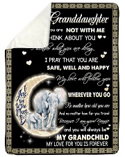 "Elephant To My Granddaughter Blanket Large Sherpa Fleece Blanket - 60"" x 80"" thumbnail"