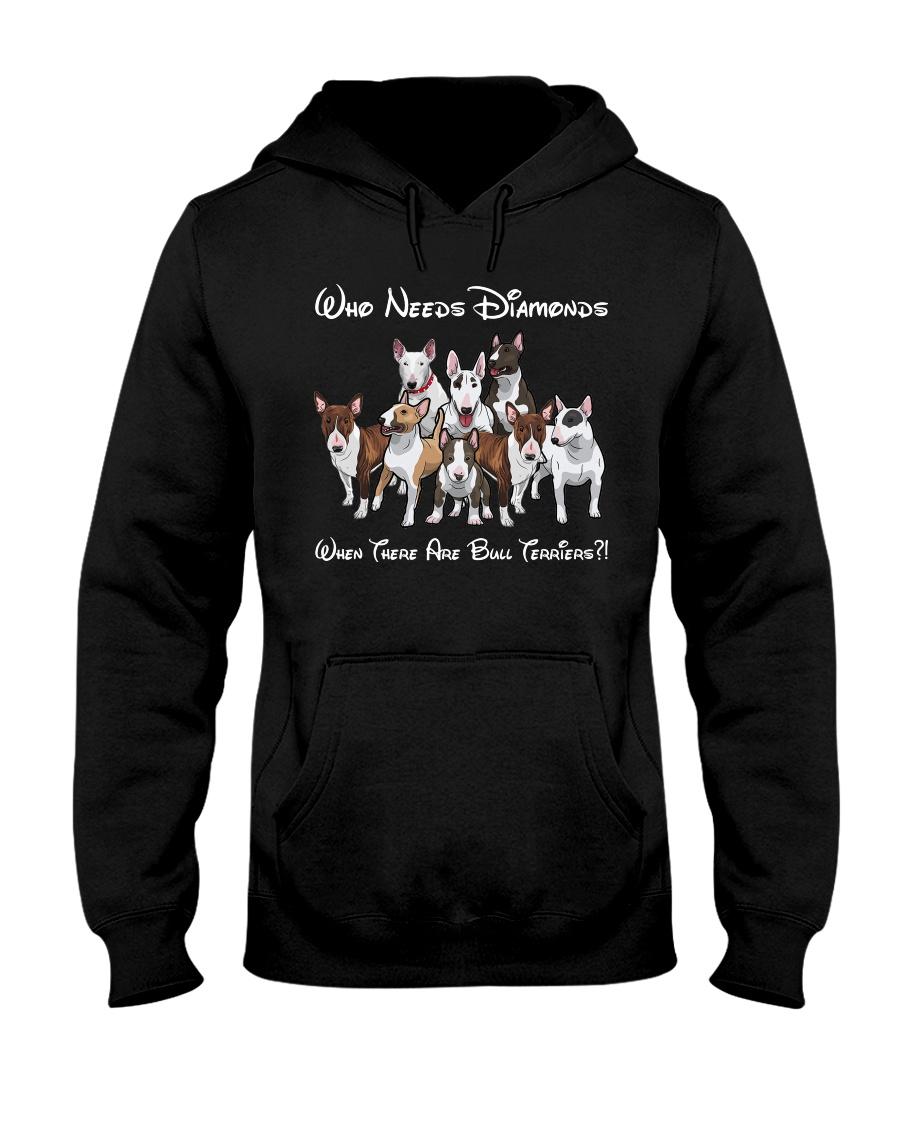 bull terrier diamonds Hooded Sweatshirt