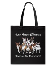 bull terrier diamonds Tote Bag thumbnail