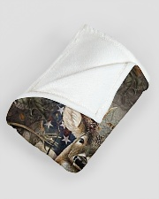 "Deer Flag Large Fleece Blanket - 60"" x 80"" aos-coral-fleece-blanket-60x80-lifestyle-front-07"