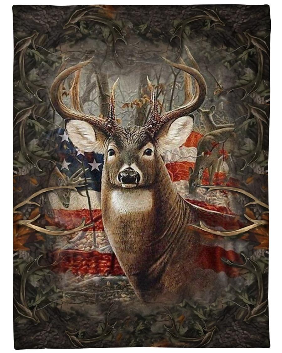 "Deer Flag Large Fleece Blanket - 60"" x 80"""