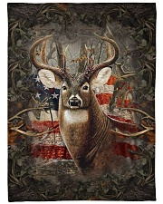 "Deer Flag Large Fleece Blanket - 60"" x 80"" front"