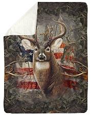 "Deer Flag Large Sherpa Fleece Blanket - 60"" x 80"" thumbnail"