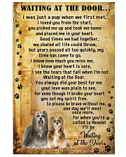 Lhasa apso Waiting At The Door  11x17 Poster front