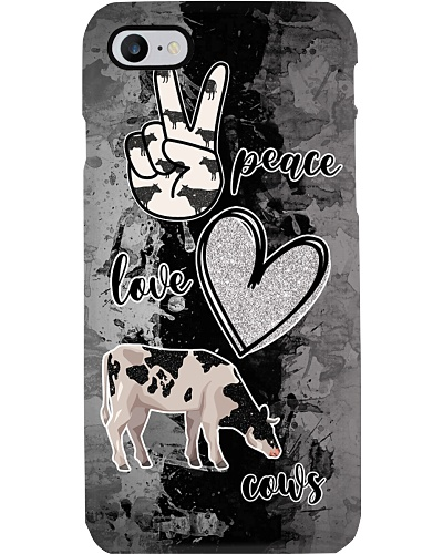 Cow Peace Love Cows Phonecase