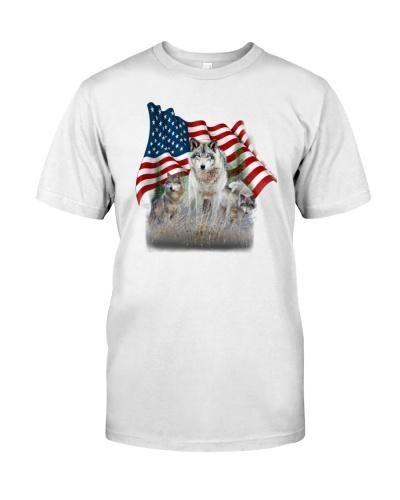 Wolves Flag America
