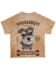 Schnauzer Wigglebutt All-over T-Shirt back