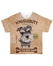 Schnauzer Wigglebutt All-over T-Shirt front