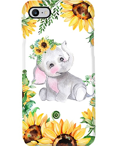 Elephants Sunflower Phonecase