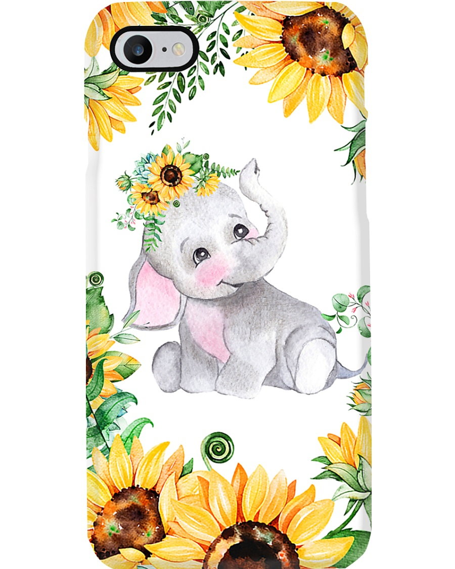 Elephants Sunflower Phonecase Phone Case