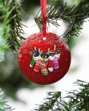 Dachshund Christmas Shocks Circle ornament - single (porcelain) aos-circle-ornament-single-porcelain-lifestyles-07