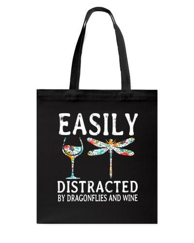 Easily Distracted By Dragonflies And Wine