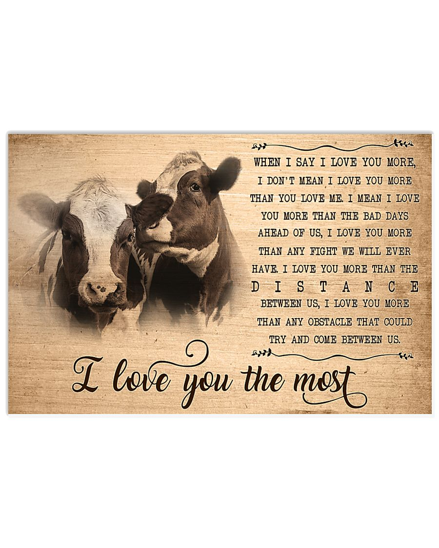 Cow I Love You The Most 17x11 Poster