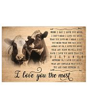 Cow I Love You The Most 17x11 Poster front