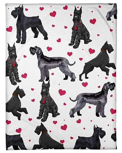 Schnauzer Funny Blanket Heart Love Graphic Design