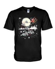 Cat Christmas V-Neck T-Shirt thumbnail
