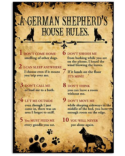 German Shepherd's House Rules