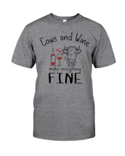 Cows And Wine Classic T-Shirt front