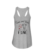 Cows And Wine Ladies Flowy Tank thumbnail