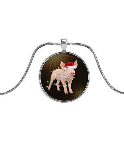 Pigs Christmas Necklace