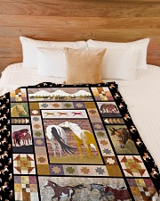 "Horse Funny Blanket Native Graphic Design Large Fleece Blanket - 60"" x 80"" aos-coral-fleece-blanket-60x80-lifestyle-front-02"