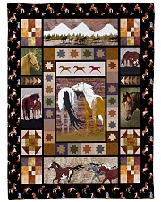 "Horse Funny Blanket Native Graphic Design Large Fleece Blanket - 60"" x 80"" front"