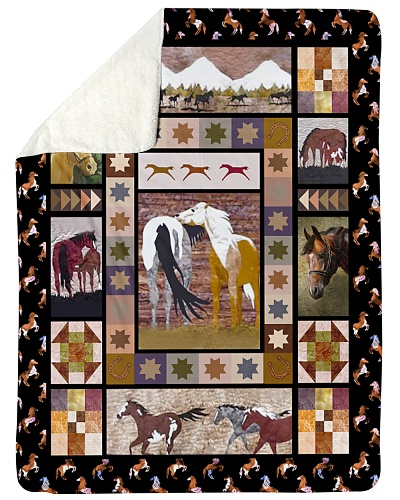 Horse Funny Blanket Native Graphic Design