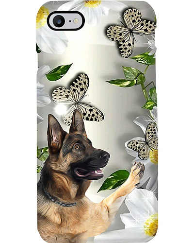 German Shepherd Daisy And Butterfly