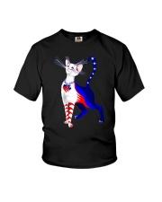 Cat Flag America Youth T-Shirt thumbnail