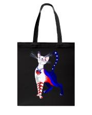 Cat Flag America Tote Bag thumbnail